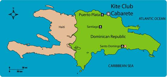 Location  Cabarete  Kite Club Cabarete  Kiteboarding lessons